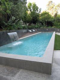 Simple Tremendous Pools Waterfalls Ideas In Pool Modern ...