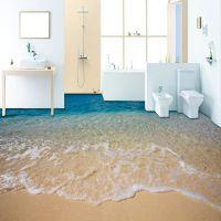 Custom 3D Beach Sea Water Living Room Bedroom Bathroom ...
