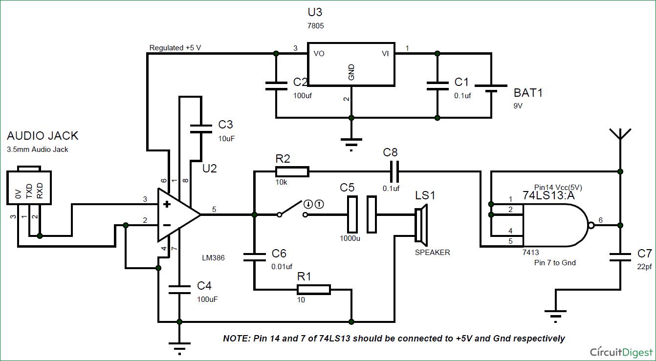 Circuit Diagram Fm Transmitter Electronic Circuits