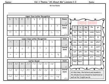Kindergarten Benchmark Assessments Storytown Letter sounds