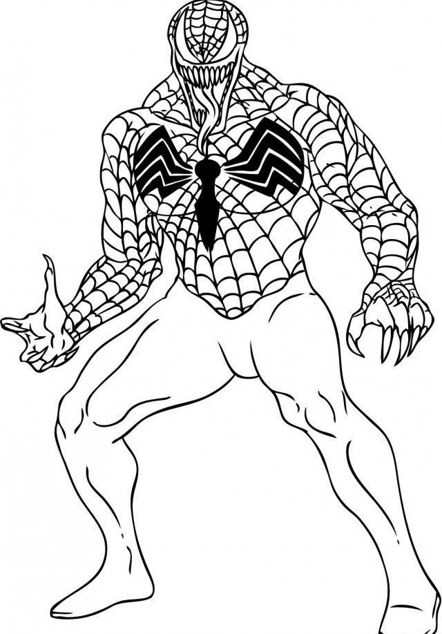 Spider Man Coloring Pages Venom Lego Spiderman Coloring