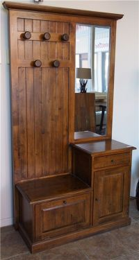 Corcoran Cottage Entrance Hall Tree Bench 10-8191 ...