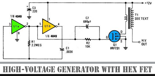 High Voltage Generator With HEX FET Other Project's Pinterest