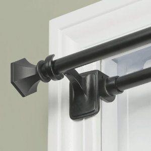 pressure curtain rods