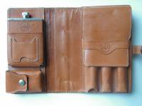 Glenroyal leather travel cigar case, cigar holder, leather ...