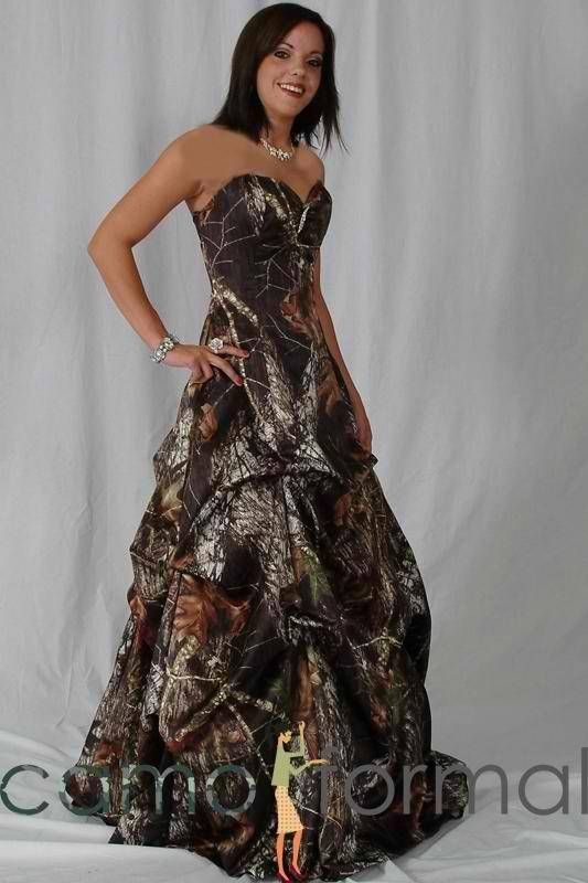 Camouflage Prom Dress on Pinterest  Camo Prom Dresses Camo Homecoming Dresses and Camouflage