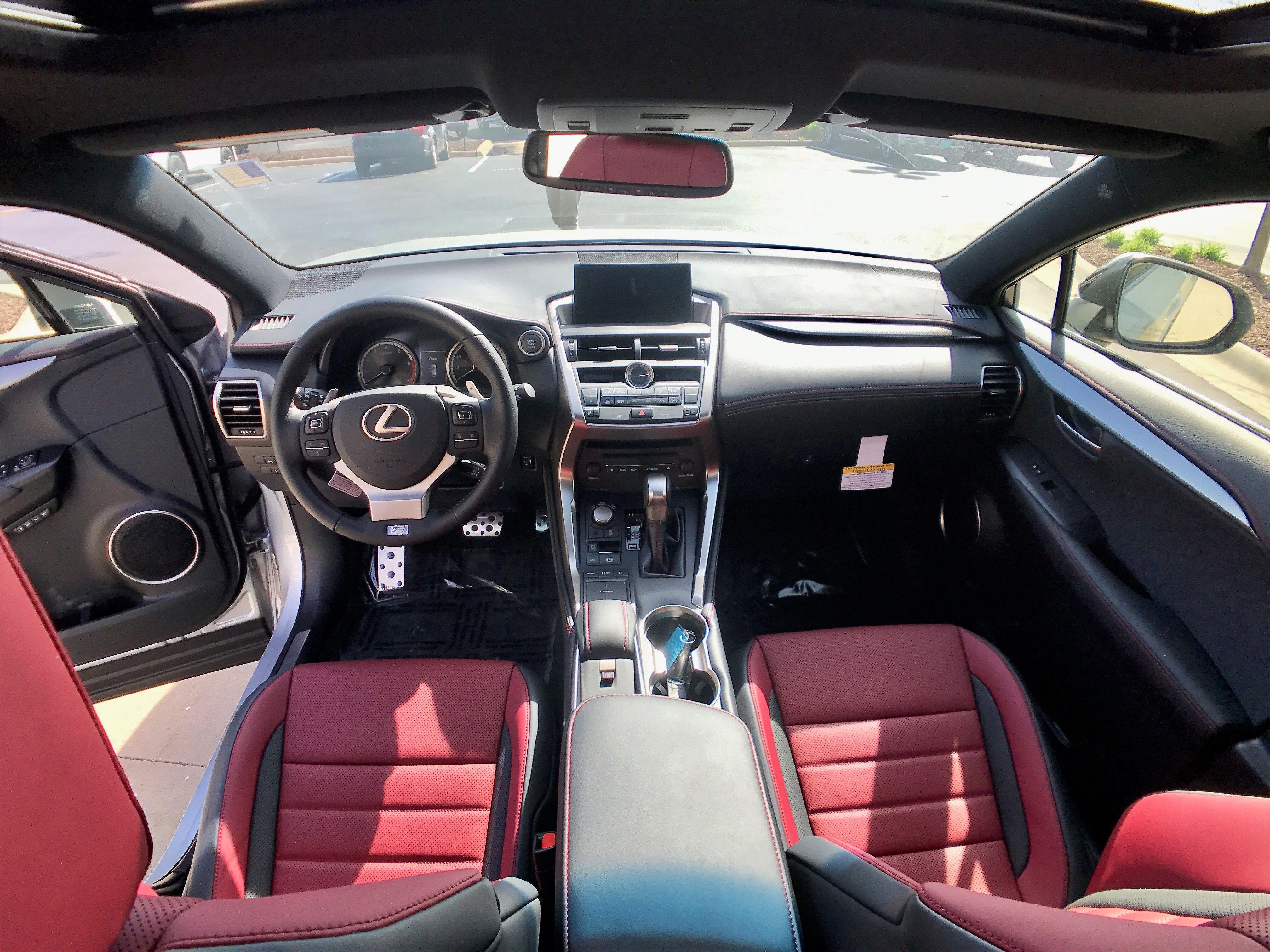Lexus NX F Sport red interior Lexus Pinterest