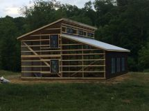 Framing Pole Barn Home