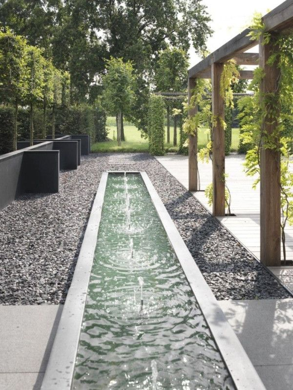 Landscape Design Ideas Modern Garden Water Features Gardens