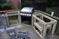 how to build an outdoor kitchen with wood frame with how ...
