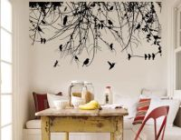 Realistic tree silhouette wall decal.   Happy Trees ...