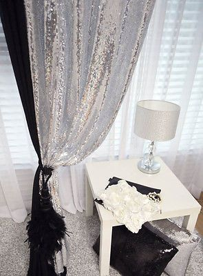 Details About Gold Sequins Beaded Curtain Drapery Panel Room
