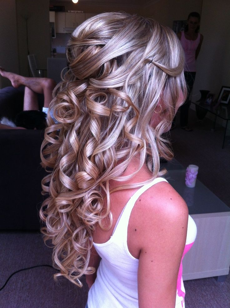 Half Up Half Down Prom Hairstyles Pinterest Wedding Hairstyles