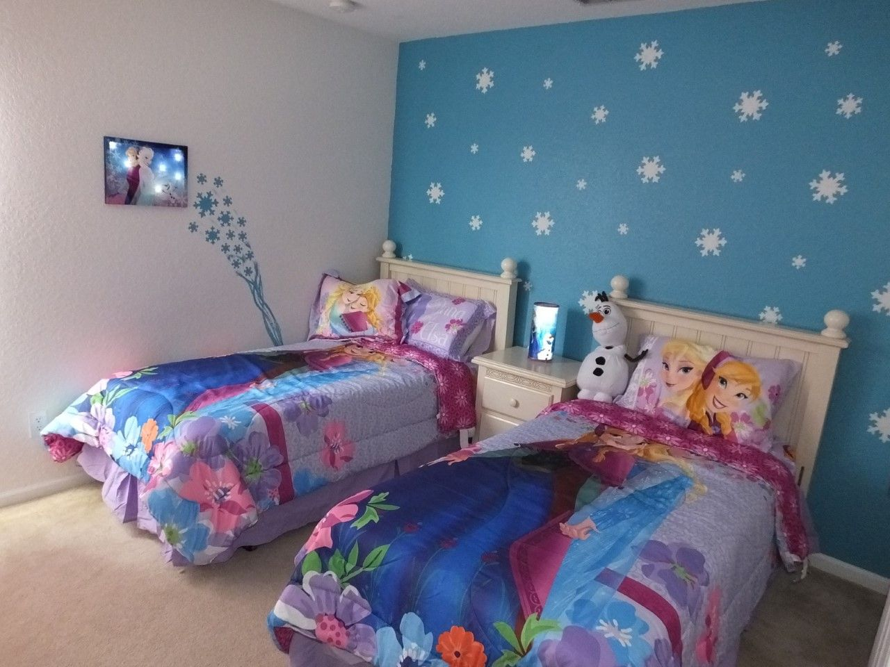 Frozen bedroom accent wall  kids rooms  Pinterest