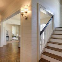 Plank walls in entry/foyer, board and batten in dining ...