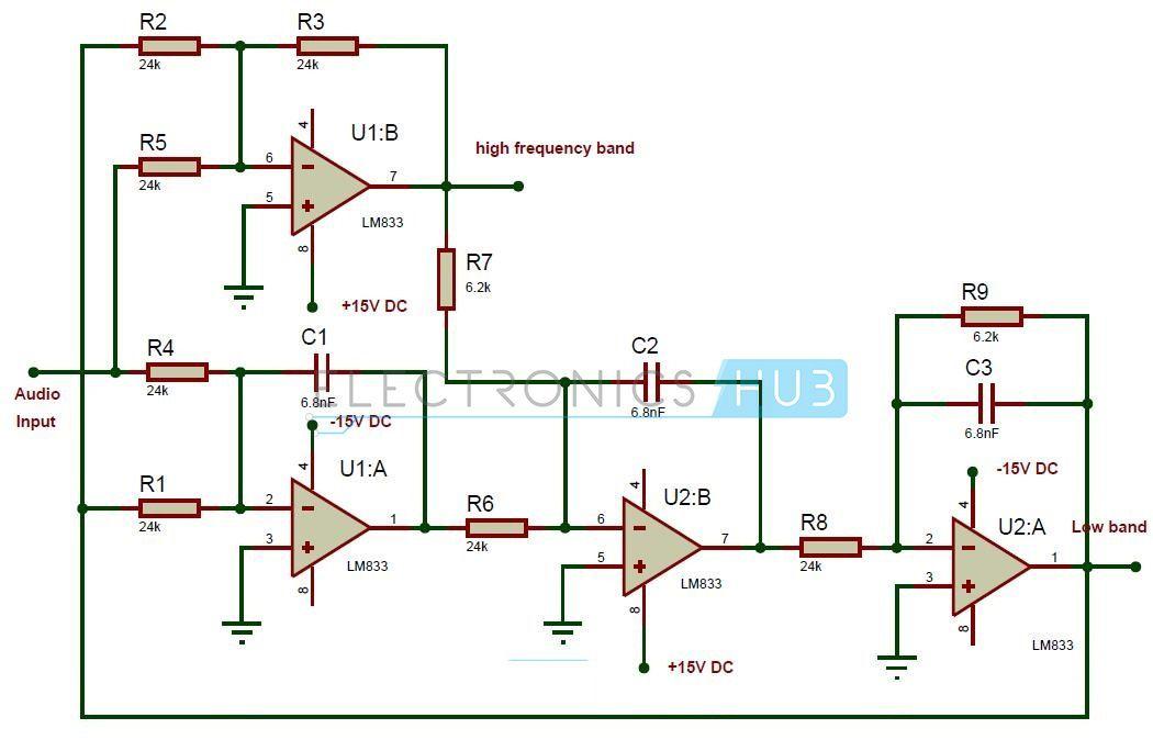 Active Audio Crossover Circuit Circuit Diagram Rasberry Pi And