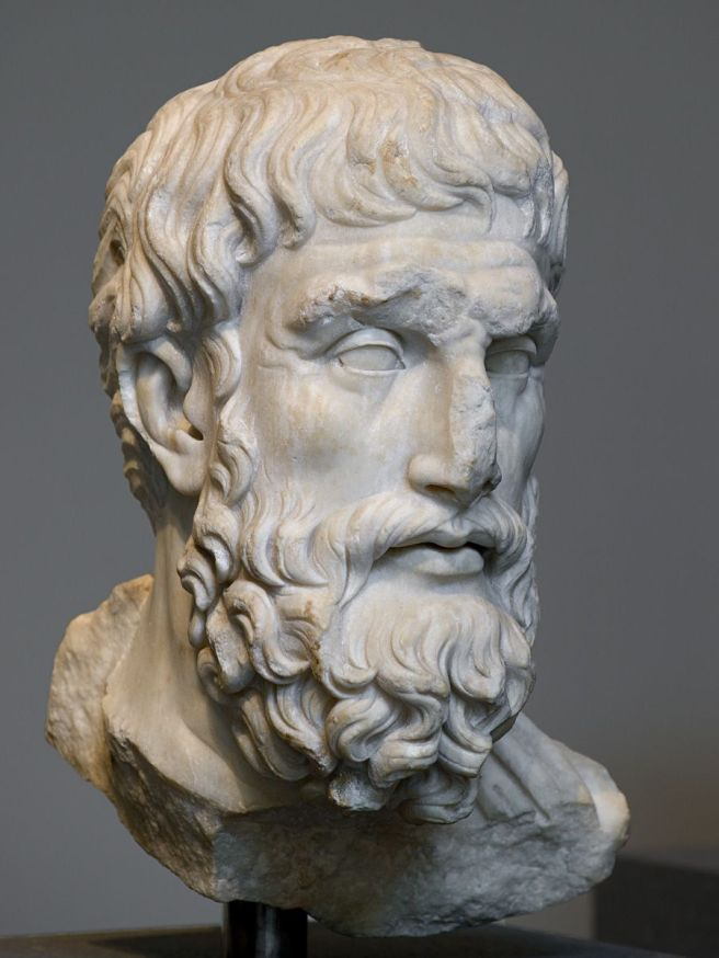 Image result for Ancient Greek Epicurus