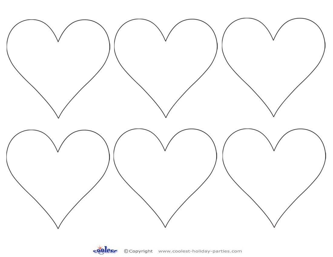 Printable Valentine Day Hearts