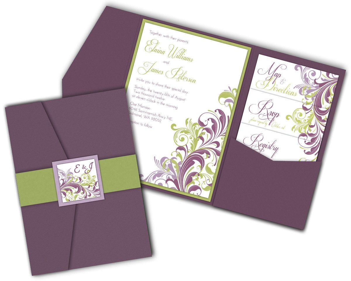 Pocket Wedding Invitations