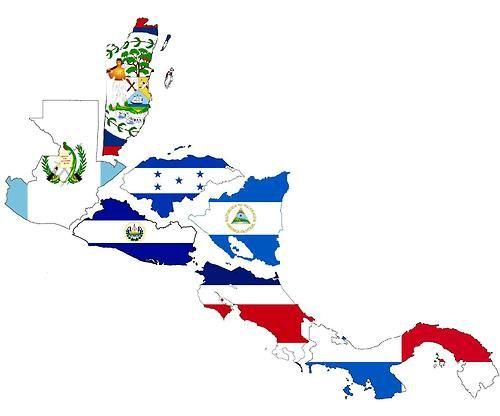 Latin America Flags Whole Pic