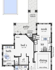 Bungalow style house plan beds baths sq ft also rh pinterest