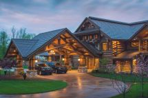 Mountain Lodge Style Home Plans