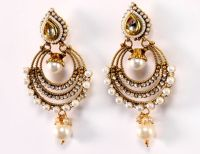 Golden Pearl Earring  Indian Imitation Jewellery Indian ...