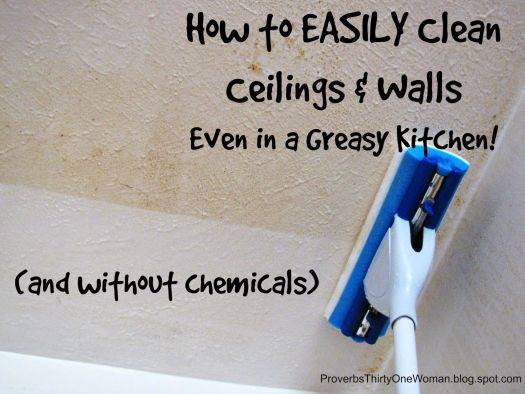 How To Easily Clean Ceilings Walls Even In A Greasy Kitchen Proverbs