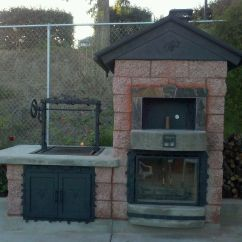 Outdoor Kitchen Pizza Oven Design Chevron Rug Ovens Custom And Lc