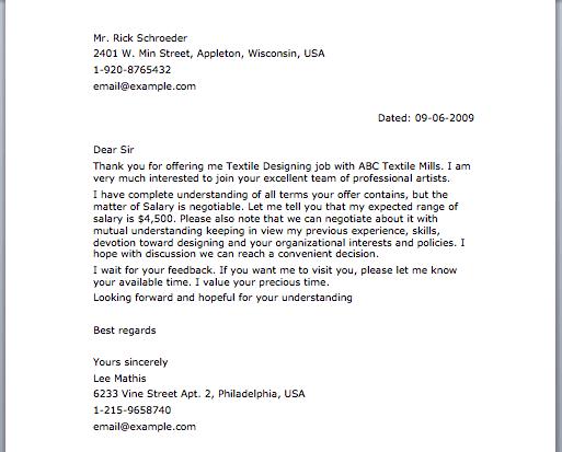 Negotiation Letter  Letter Samples  Pinterest