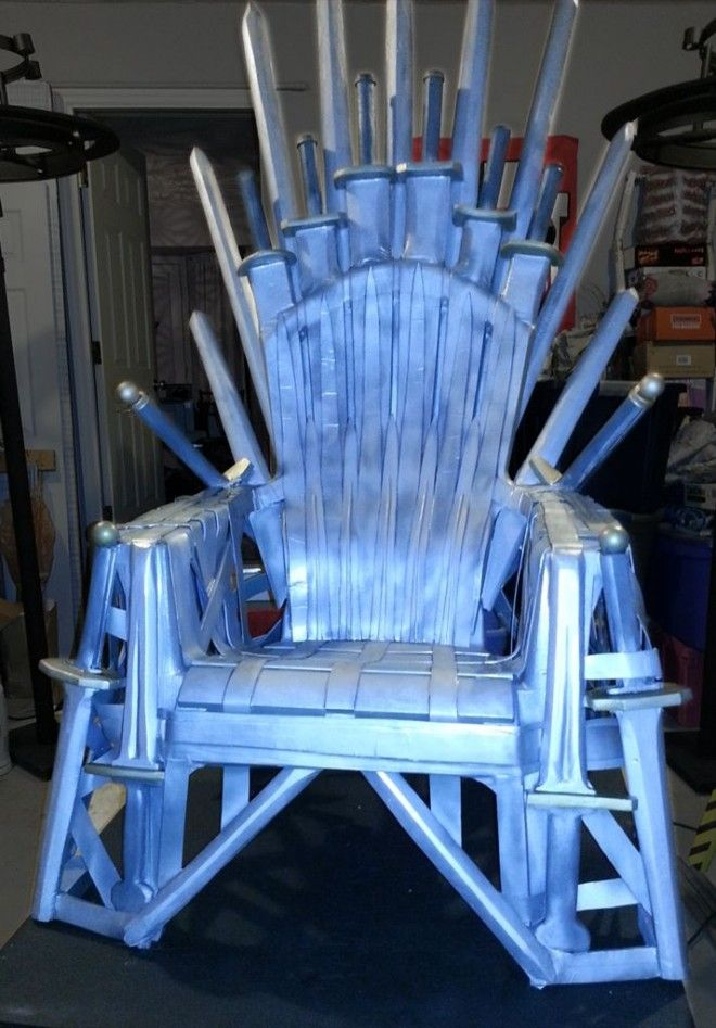 How to Make Your Own Iron Throne From a Lawn Chair  Iron