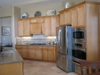 contemporary natural maple kitchen cabinets