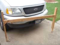 homemade truck rack from 2x4's
