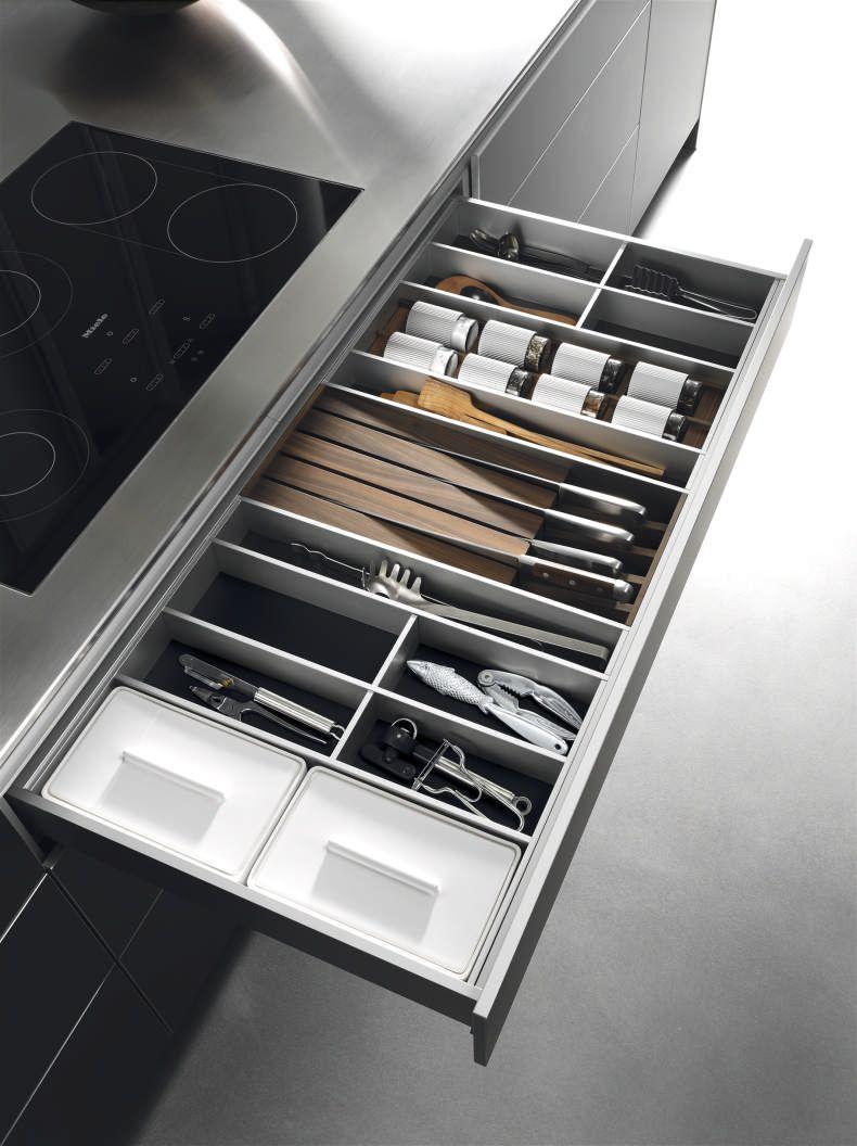 Bulthaup Cuisine Tiroir En Aluminium En Cm De Large Avec
