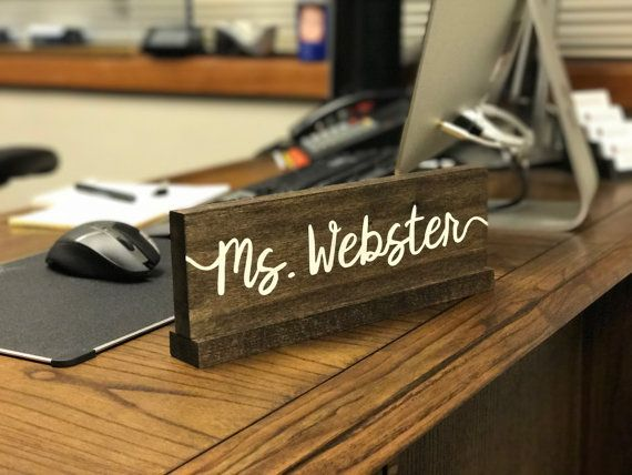 Personalized Desk Name Plate  Teacher Desk Sign by