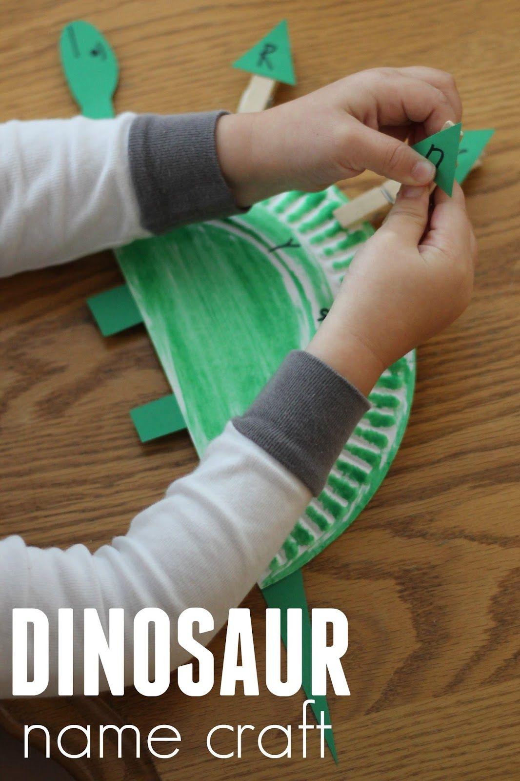 Paper Plate Dinosaur Name Craft