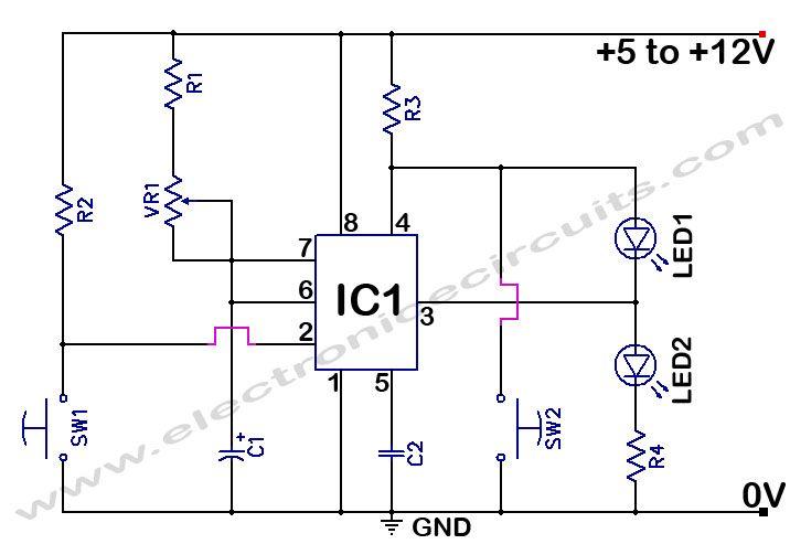 555 Timer Time Delay Circuit Electronics Pinterest
