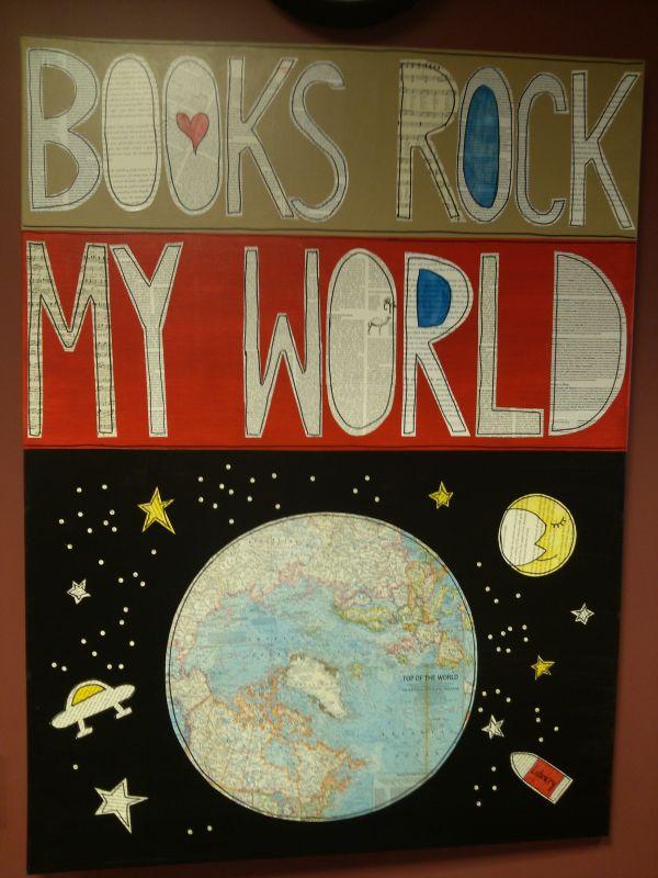 24x36 Canvas Elementary School Library