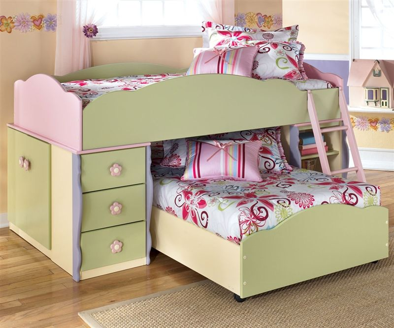 ashley furniture doll house loft bed with built-in dresser and