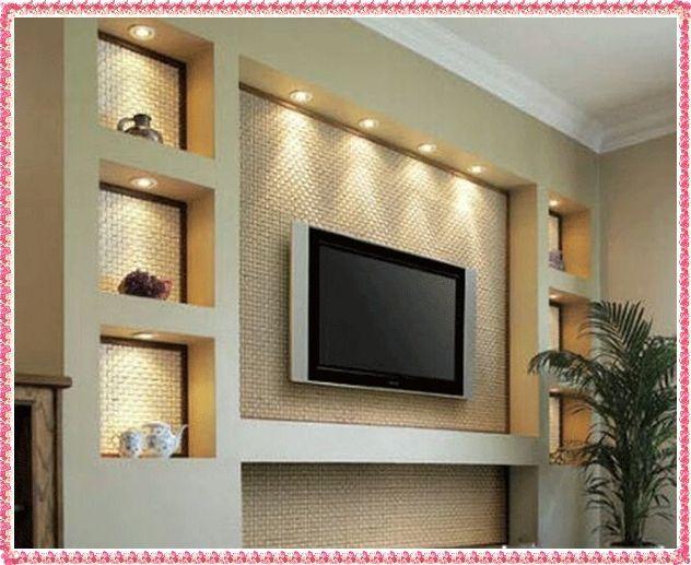 Tv Wall Unit Ideas Gypsum Decorating Ideas 2016 Drywall