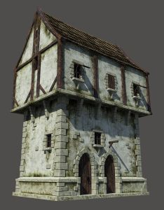 Medieval house model available on turbo squid the world   leading provider of digital models for visualization films television and games also  modeling pinterest rh za