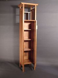 Tall, Narrow Armoire Cabinet: in Cherry- Handmade Custom ...