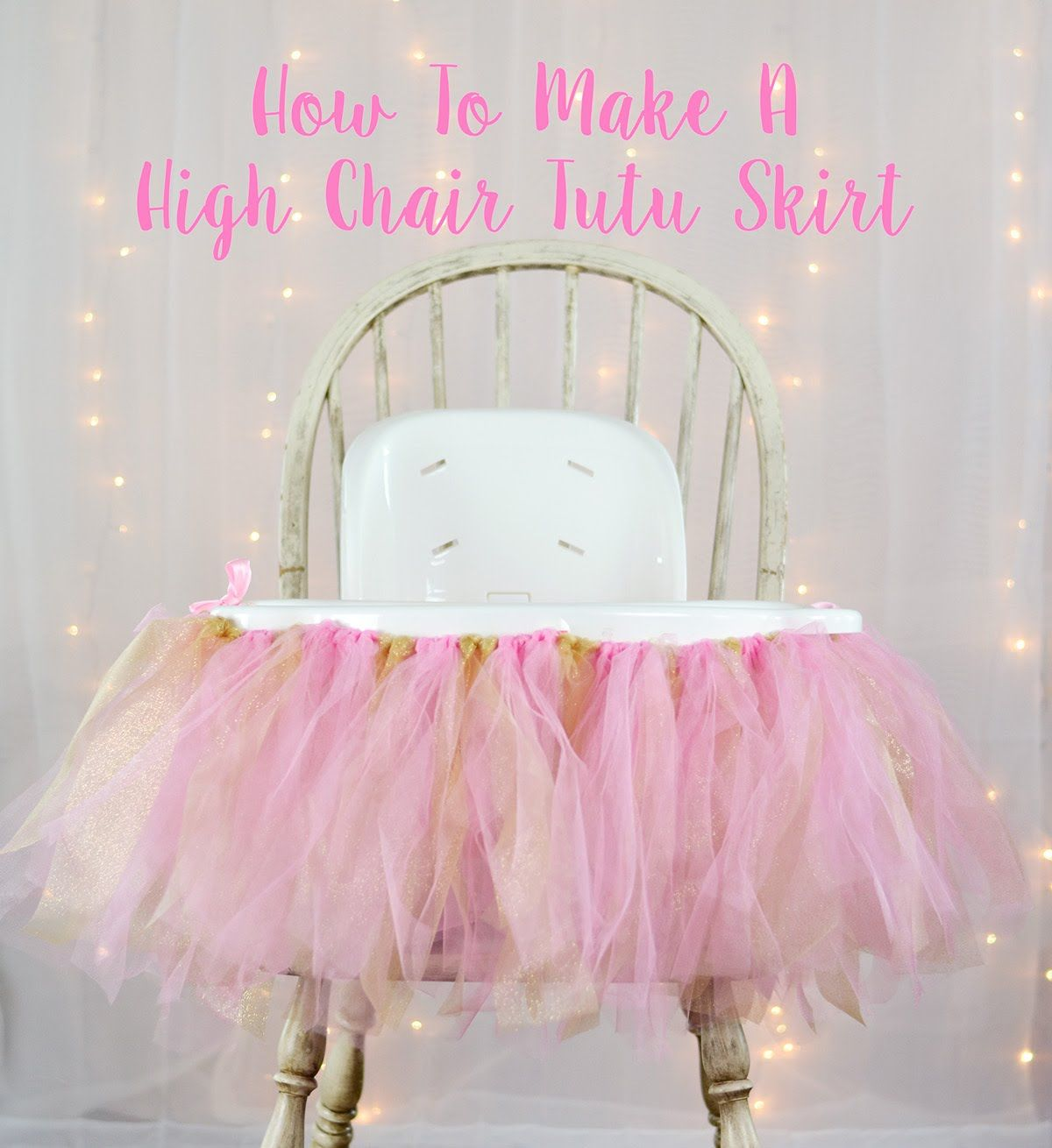 first high chair invented cover hire heathrow how to make a tutu skirt party decorations