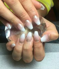Coffin/Ballerina Acrylic Nails Baby boomer, Ombre, glitter ...
