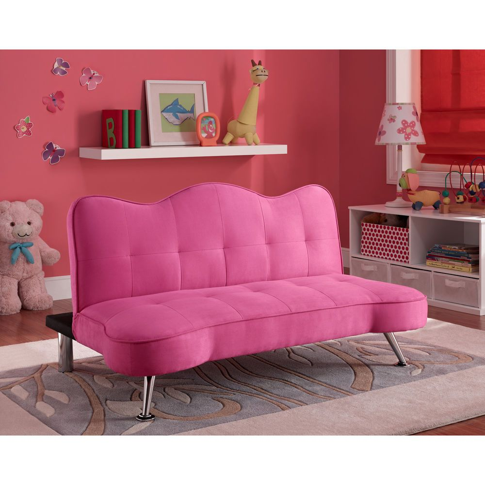 DHP Rose Junior Sofa Lounger Racy Pink Twin Kid And Futons