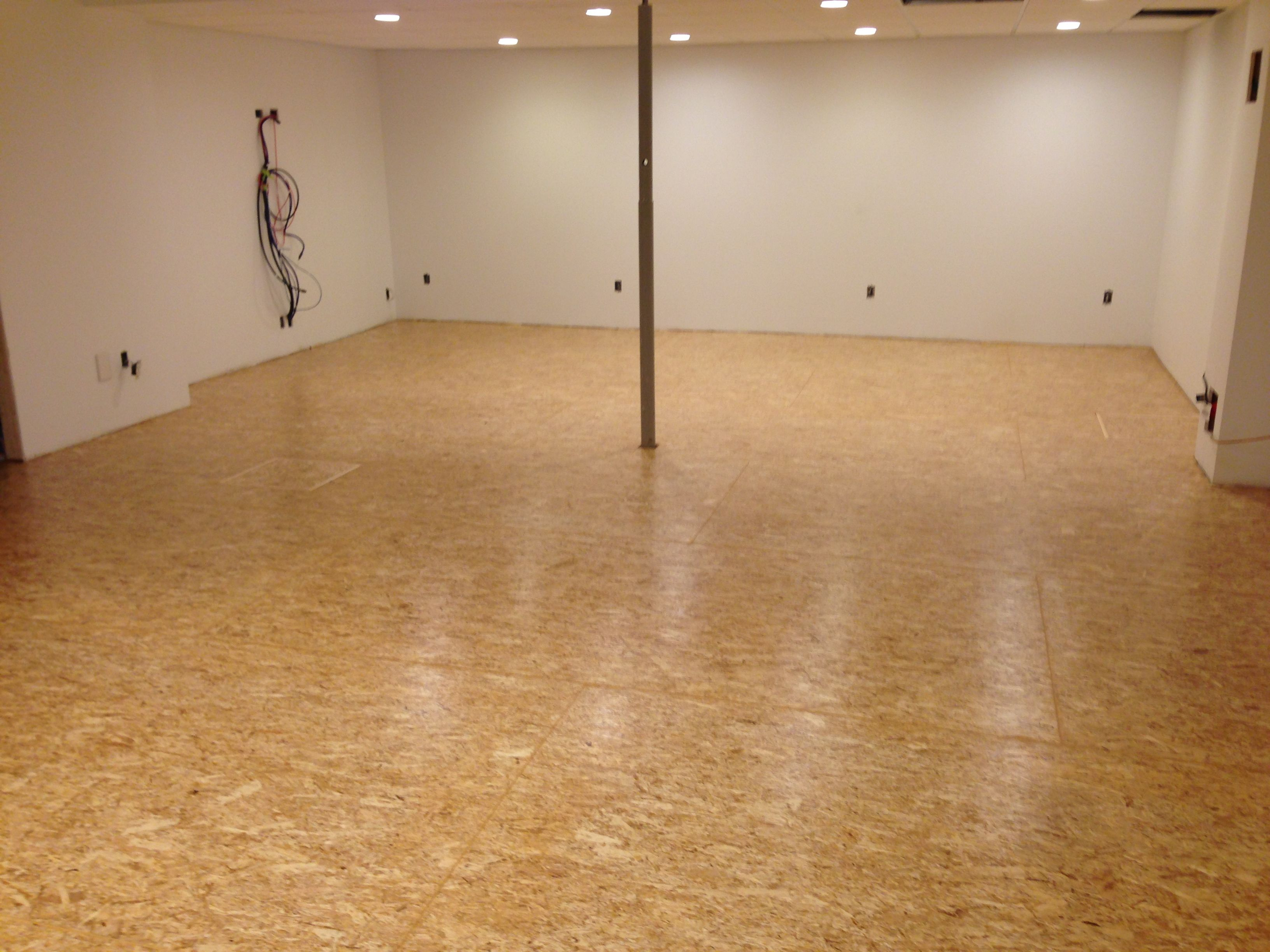 Using OSB Flooring over dimple board over basement slab