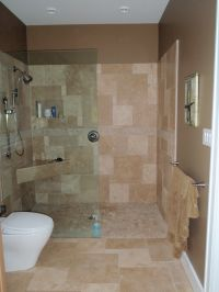 Open shower - no door. | Bathroom ideas & tips | Pinterest ...
