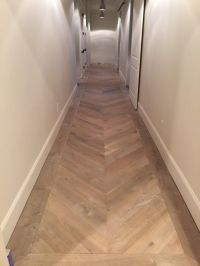 herringbone wooden floor in a hallway | for the home ...