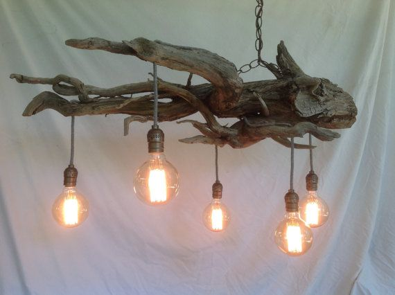 Driftwood Root Chandelier Lake Urchin a by