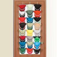 Overdoor Cap Baseball Hat Organizer Rack Holder Easy ...